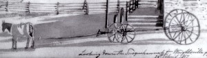 Detail from Plate 85, possibly a boat wagon